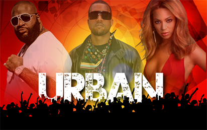 Urban playlists are dominated by top-selling hip hop and R&B performers, but playlists are vast and can include R&B, hip hop, rap, pop, house, dub step, and reggae.