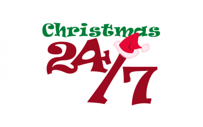 Introducing our syndicated 24/7 All-Christmas format, Christmas 24/7!